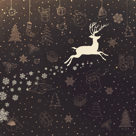 omela: Vintage Merry Christmas Card Design