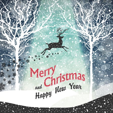 new years eve background: Merry Christmas Greeting Card