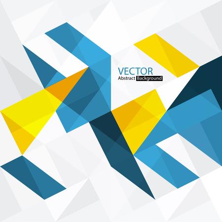 Résumé fond coloré avec des triangles Vecteurs