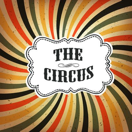 Circus abstraktes Plakat mit farbigen Strahl-Hintergrund Vektorgrafik
