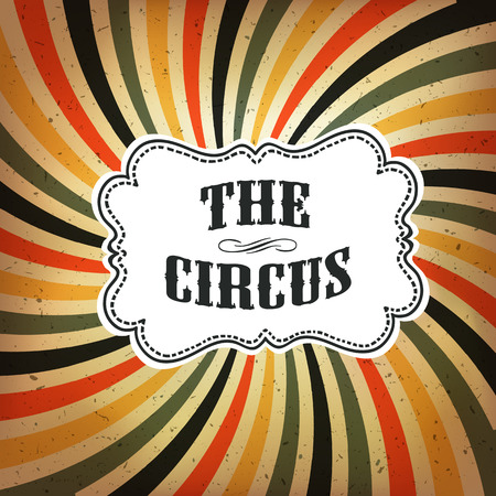 Circus Abstract Poster with Colored Rays Background