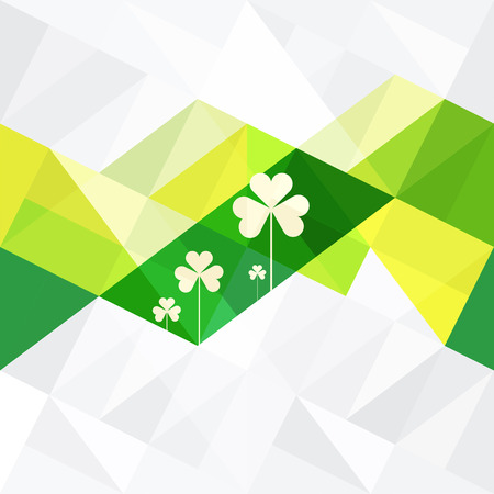 stroke of luck: St. Patricks Abstract Background
