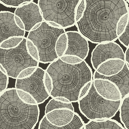 rings on a tree: Tree Rings Pattern Seamless Vector