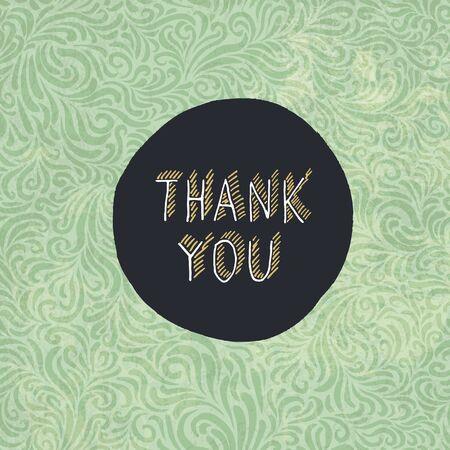 """plantilla para tarjetas: """"Gracias"""" Plantilla de la tarjeta del vintage Vectores"""