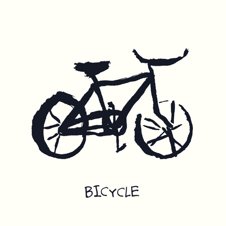 Bicycle. Singlespeed. Hand Drawn Illustration Vector