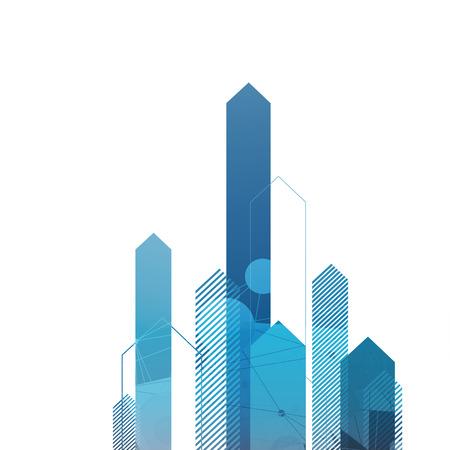 abstrakte muster: Blaue Pfeile Up. Erfolgreiches Konzept Abdeckung Illustration