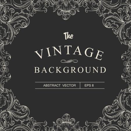 retro dark: Vintage Frame Design Template