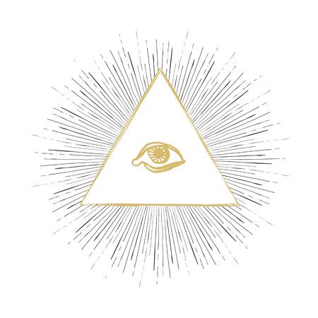 ojo de horus: All Seeing Ilustración de ojos Vectores