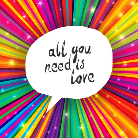 burst background: All You Need Is Love Poster Illustration