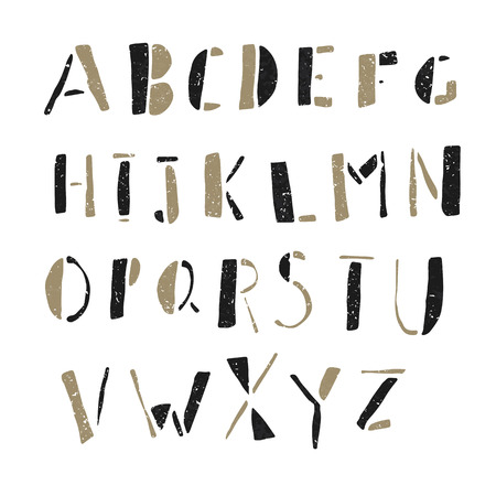 Hand-drawn Doodles Alphabet 일러스트