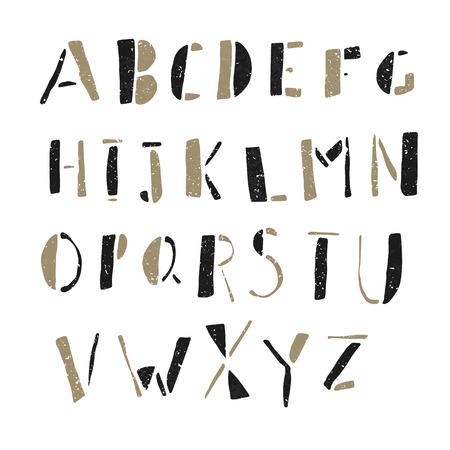letras negras: Dibujado a mano Doodles del alfabeto