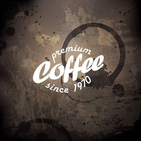 roaster: Coffee grunge retro background