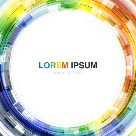 chromatic color: Colorful Background with Circle Shape in Center. Vector Template for Covers, Posters, Annual Reports etc Illustration
