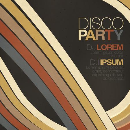 retro disco: Discoteca retro plantilla de volante