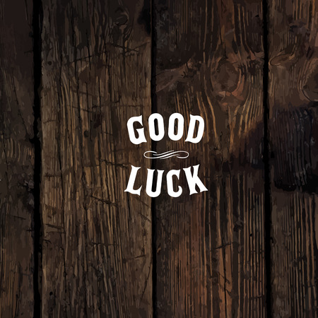 farewell: Wild west styled Good Luck message on wooden board Illustration