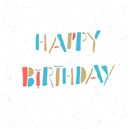 white paper texture: Happy Birthday Lettering On White Paper Texture
