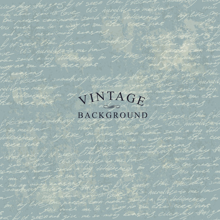 cursive: Vintage Delicate Background Template for Cover Designs With Grunge Textured Background.