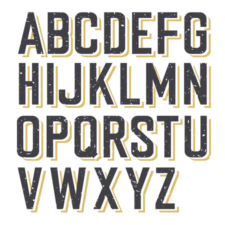 Retro Styled Textured Alphabet