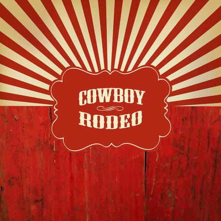 oeste: Wild West Rodeo de fondo en la cerca de madera roja