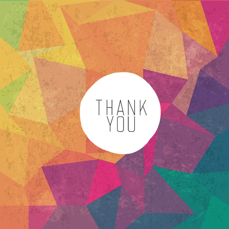greetings card: Grungy retro background with Thank You message