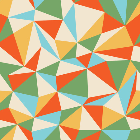Retro Triangle seamless colorful pattern