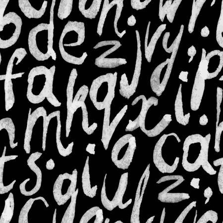 peinture blanche: Peinture blanche transparente alphabet dessin� � la main sur le mod�le tableau noir