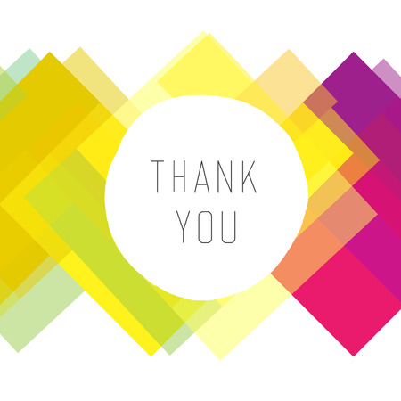 Thank you card colorful vector