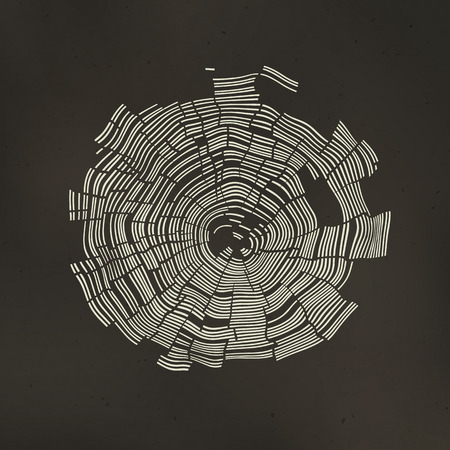 Tree Rings Background Vettoriali