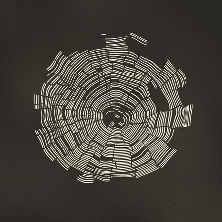 Los anillos de árbol de fondo
