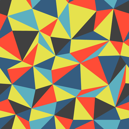 colorful: Triangle seamless pattern colorful