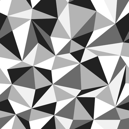 Triangle seamless monochrome pattern