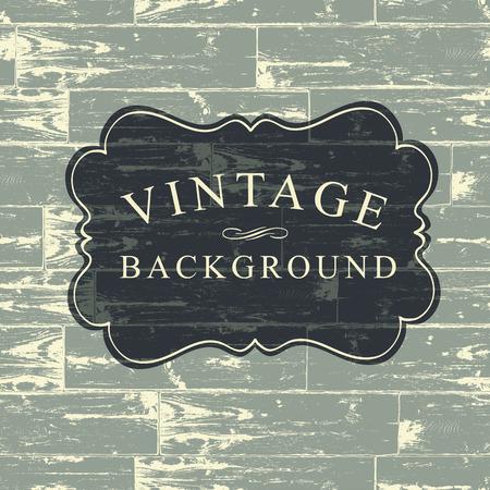 old wood: Vintage Lettering on Wooden Background
