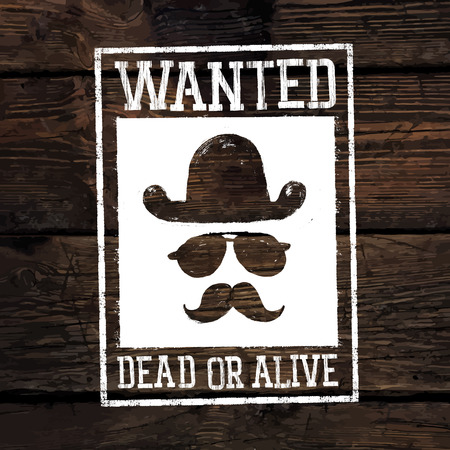 wanted poster: Old styled wild west poster
