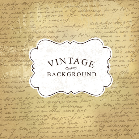 Aged vintage old paper with handwritings background. Vector illustration Illustration