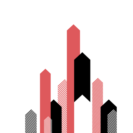 clean up: Red Arrows Up. Successful Business Concept Illustration. Simple and Clean Design