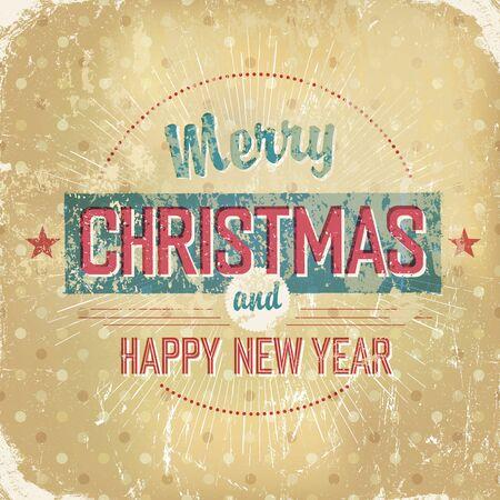 Aged vintage Christmas background