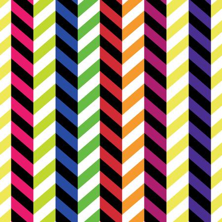 fabric art: Seamless Colorful Chevron Pattern. Vector Illustration
