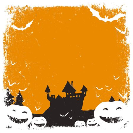 necrosis: Halloween themed background with space for text and isolated borders Illustration