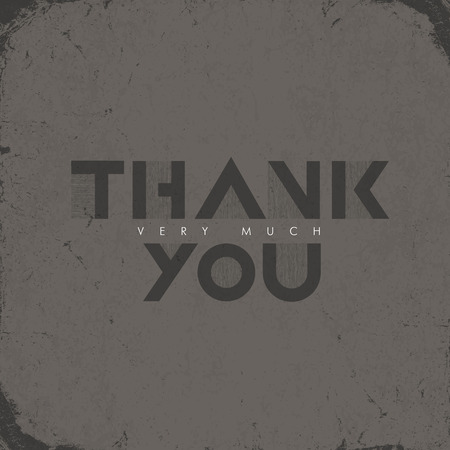 thank you very much: Vintage Thank you very much Lettering. Grunge effects can be easily removed. Illustration