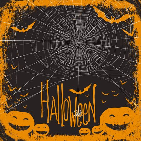 halloween spider: Halloween themed background with spider web