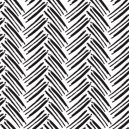 herringbone background: Herringbone Seamless Pattern. Monochrome vector pattern. Painted by Brush.