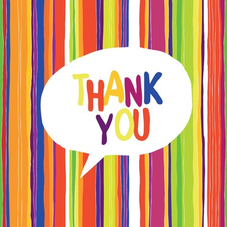 respecting: Thank you card colorful, vector