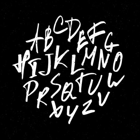 tipos de letras: Expresi�n dibujado a mano las letras. Letras del alfabeto en may�sculas. Alfabeto vector. Vectores