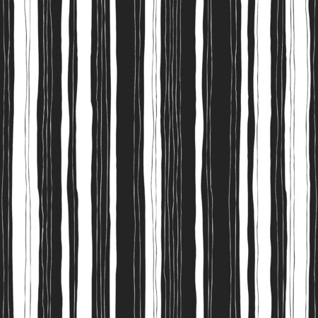 stripes pattern: Abstract black and white stripes pattern. Seamless  hand-drawn lines vector design.