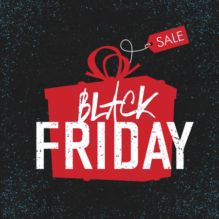 red black: Black Friday sales Advertising Poster. Illustration