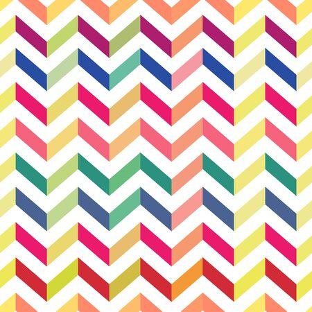 chevron pattern: Seamless Colorful Chevron Pattern. Vector Illustration