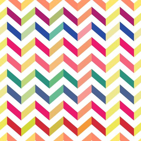 Seamless Colorful Chevron Pattern. Vector Illustration