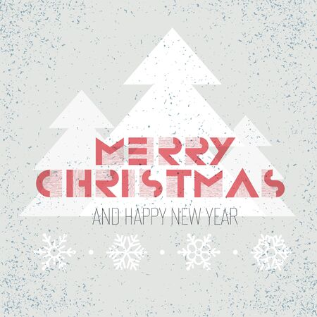 retro christmas: Merry Christmas retro illustration.