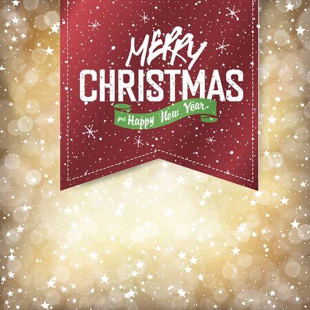 Merry Christmas Lights Fondo con la letra de la Navidad Foto de archivo - 48001828