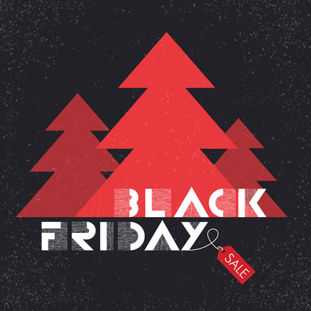 black friday sales advertising poster with christmas trees silhouettes christmas sale stock vector 48002896 - Black Friday Deals On Christmas Trees